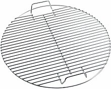 Huaxiong Grillrost aus Edelstahl, rund, robust,
