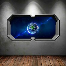 HUAXUE 3D Multi Color Space Planet Fenster