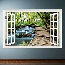 HUAXUE Jungle Walk Fensterrahmen Wandkunst