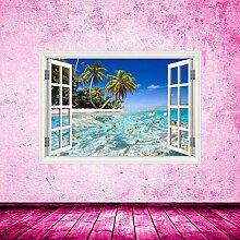 HUAXUE Tropical Fish Sea Paradise Strandfenster
