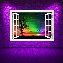 HUAXUE voller Farbe Regenbogen Himmel