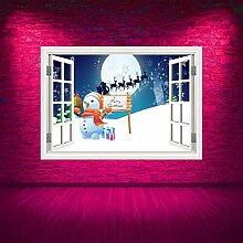 HUAXUE Vollfarbige Frohe Weihnachten Schnee