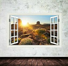 HUAXUE Vollfarbige Nevada Desert Window Wandkunst