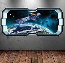 HUAXUE vollfarbige Raumschiff Raum Fenster