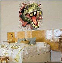 HUAXUE Wandaufkleber 3D Dinosaurier Wandaufkleber