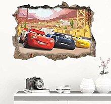 HUAXUE Wandaufkleber 3D Stereo 3D Wand Auto