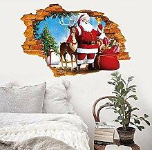 HUAXUE Wandaufkleber Weihnachtsszene Dekoration