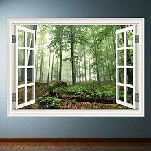 HUAXUE Woods Tree Fensterrahmen Wandkunst