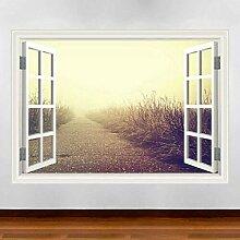 HUAXUE Zugangsfenster Wandkunst Aufkleber