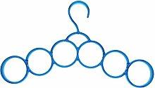 HuaYang 6 Ringe Rund Multifunktionstuch Gurt Riegel Krawatte Rack Behälter Aufhänger - Blau