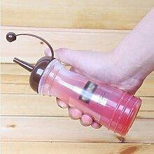 HUAYANGKetchupGewürzSauceSenfölSaisonFarbeSqueeze Flasche340ml(zufällige Farbe: 1Stück)