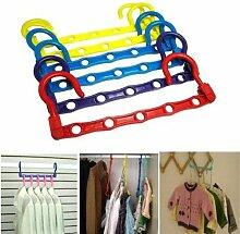 HUAYANG Magie Kleidung Handtuch Aufhänger Haken Closet Space Saver Lagerung Brust (Packung mit 2: zufällig Farbe)