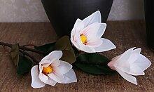 HUAYIFANG Das Magnolia Magnolia Flower Simulation Fühlen Dekoration Blumen, Künstliche Blumen, Rosa