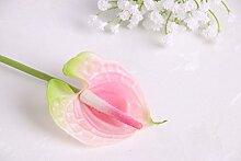 HUAYIFANG Dekorative Blumen Von Anthurium Blumen Heimtextilien Dekoratives Flower Mini Simulation, Rosa
