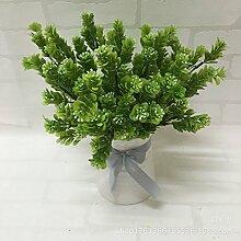HUAYIFANG Die Einrichtung Ist Simulation Und Emulation Silk Blume Gras Grün Pflanzen Zubehör Emulation Blumendekoration Kunststoff Gras Natürliche