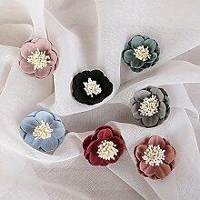 HUAYIFANG Die Erste Übereinstimmung - Getrocknete Blume Friese Schlüsselanhänger Zubehör Blütenkopf Wein Ro