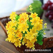 HUAYIFANG Die Kleine Daisy Daisy2812 Color Emulation Blumen Wurden Falsche Blumen Verwendet Die Kleine Daisy Pflanze Gelb Zu Verzieren