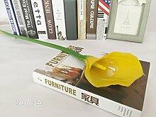 HUAYIFANG Ein Großartiges Gefühl Fotografie Requisiten Calla Heimtextilien Dekorative Blumen Fotografie Zimmer, Zwei, Gelb