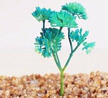 HUAYIFANG Emulation Fleischige Pflanze Blumen Und Die Emulation Der Fleischige Pflanze Blumen Und Accessoires Blumen Künstliche Blume Blau Kleine Windspiele