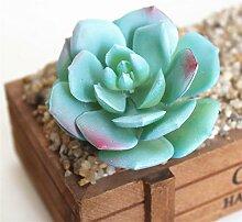 HUAYIFANG Emulation Fleischige Pflanze Blumen Und Die Emulation Der Fleischige Pflanze Blumen Und Accessoires Florale Künstlichen Schnee Von Blume Blau