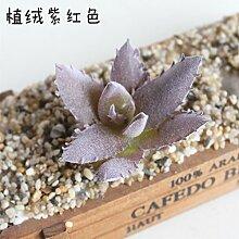 HUAYIFANG Emulation Fleischige Pflanze Blumen Und Emulation Von Den Fleischigen Pflanze Blumen Und Blüten Lila Aloe Vera