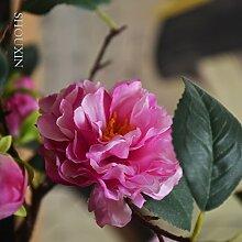 HUAYIFANG Emulation Kamelie Blumen Tee Von Tea Tree Silk Blume Fake Blume Home Wohnzimmer Mit Friesen Zubehör Hochzeit In Rot Eingerichte
