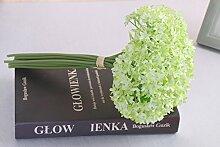HUAYIFANG Hochzeit Hand Blumen, Mini Snow Simulation Blumen, Hochzeit Blumen, Dekoration, Grün