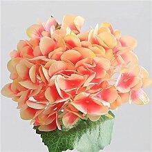 HUAYIFANG Hydrangea Zubehör Auf Den Zwei Blatt Seidenblumen Fake Blumen Künstliche Blumen Simulation Blumenzubehör Dunkel Rosa