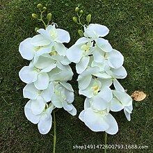 HUAYIFANG Kopf Geprägte Schmetterling Blau 8 Kopf Geprägte Schmetterling Lan Emulation Und Simulation Blumen Hochzeit Home Dekoration Thema Weiß