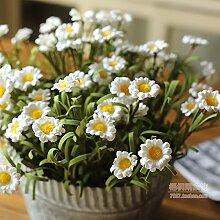 HUAYIFANG Künstliche Gummi Blumen kleine daisy Noriekiku Kinuka Heimtextilien dekoratives Blume, Rosa