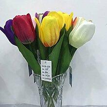 HUAYIFANG Mini Tulip Mini Home Décor Emulation Pflanze Blumen Silk Blume Geformte Blume Gelb