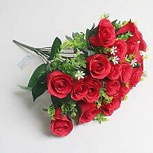 HUAYIFANG Valentine Rose Rose 18 Kopf Liebhaber Rose Hochzeit Dekoration Lila
