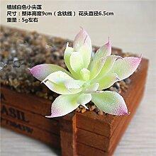 HUAYIFANG Zubehör Emulation Fleischige Pflanze Liefert Anlage Wand Zubehör Kunststoff Emulation Blume Weiß Kleine Nadel-Lin