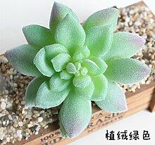 HUAYIFANG Zubehör Emulation Fleischigen Pflanzen Blüte Shi Feng Verbrauchsmaterial Zubehör Emulation Blume Grün