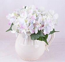 HUAYIFANG6 Leiter Der Wasser Caltrop Braut Blume Holding Hortensie Hortensie Heimtextilien Hohe Simulationsgeschwindigkeit Dekorative Blumenvase, Light Pink