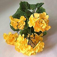 HUAYIFANGBegonie Blüte Simulation Hochzeit Dekoration Blumen, Gelb