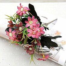 HUAYIFANGBlume Chrysantheme Blumen Heimtextilien Persischen Handmade Diy Blumiges Bouquet, Pink