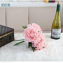 HUAYIFANGDie Blume Seidenblumen Aileen Pfingstrose Blumenstrauß Hochzeit Dekorationen Heimtextilien, B