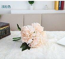 HUAYIFANGDie Blume Seidenblumen Aileen Pfingstrose Blumenstrauß Hochzeit Dekorationen Heimtextilien, D