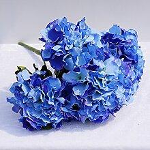 HUAYIFANGEin Strauß Blumen Blumen Hochzeit Hintergrund Simulation Heimtextilien, Verzierung, Navy Blue