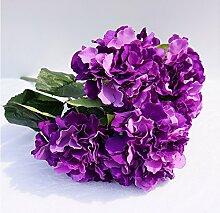 HUAYIFANGEin Strauß Blumen Blumen Hochzeit Hintergrund Simulation Heimtextilien, Verzierung, Dunkel Lila