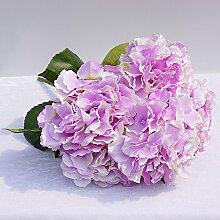 HUAYIFANGEin Strauß Blumen Blumen Hochzeit Hintergrund Simulation Heimtextilien, Verzierung, Lila Farbe