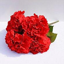 HUAYIFANGEin Strauß Blumen Blumen Hochzeit Hintergrund Simulation Heimtextilien, Verzierung, Gules