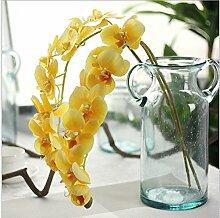 HUAYIFANGHochzeit Blumen Große Blume Heimtextilien Dekoratives Plant Simulation Simulation Von Phalaenopsis, Gelb