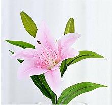 HUAYIFANGHohe Imitation Griff Lily Lily Blumen Heimtextilien Simulation Der Wohnzimmer Dekoration Blumen, Kurze Rosa