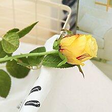 HUAYIFANGKünstliche Blumen Rosa Blüten Künstliche Blumen Heimtextilien Dekorative Blumen, Orange