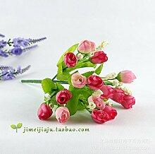 HUAYIFANGKünstliche Diamant Rose Blume Simulation Heimtextilien Dekoratives Blütenknospe Blüte Hochzeit Maelle Sterne, Blau