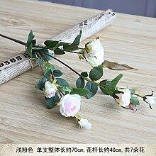 HUAYIFANGRed Rose Weiße Blumen Blumen Dekoration Kleine Simulation, Pink, Rosa