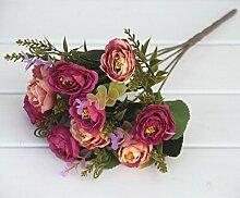 HUAYIFANGTea Rose Blumen Blumen Blumen Dekoration Des Wohnzimmers Heimtextilien Simulation, Rose Ro