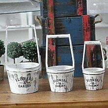 HUAYUAN Blumentopf American Style Village Holz